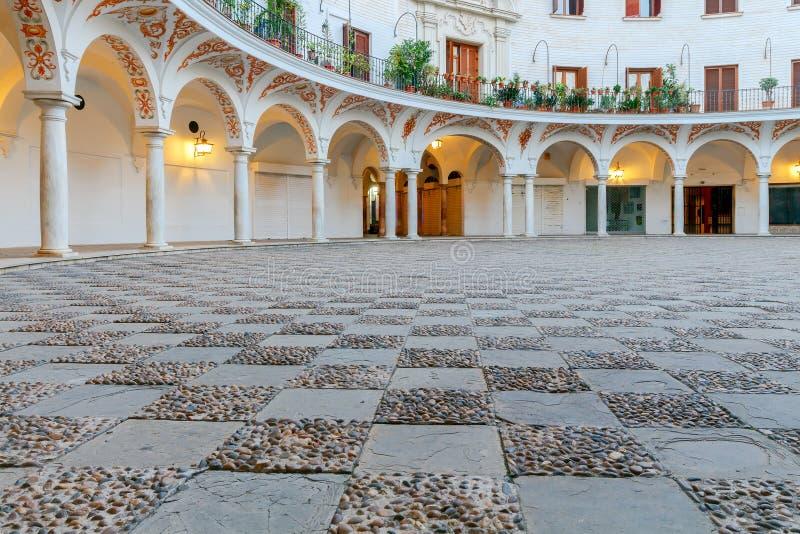 Sevilla Plaza del Cabildo royalty-vrije stock fotografie