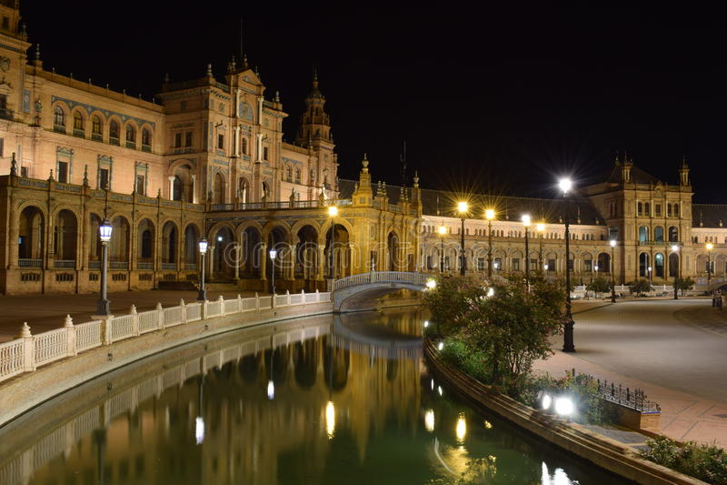 Sevilla-Quadrat stockfotos