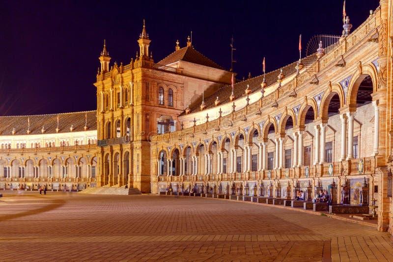Sevilla Spaanse Vierkant of Plaza DE Espana stock fotografie