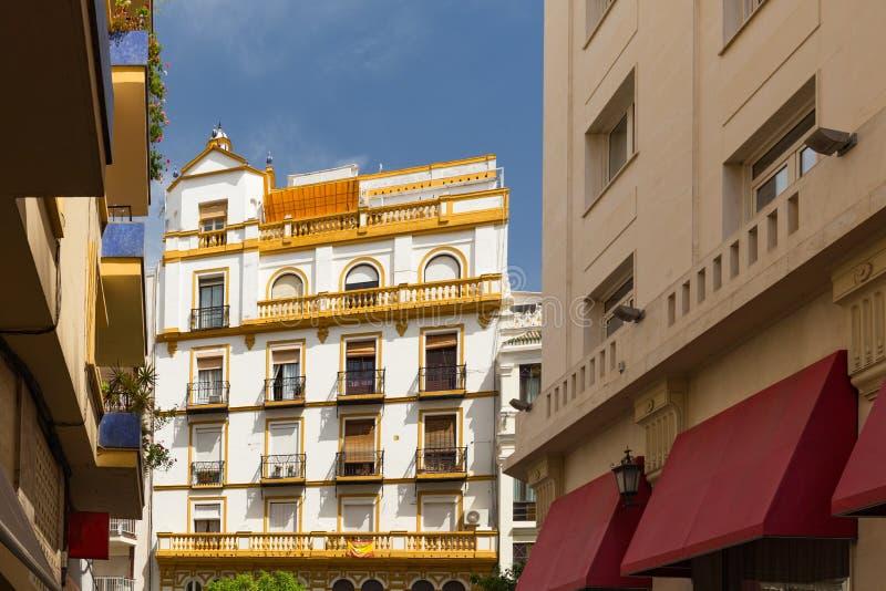 Sevilla, Spain - Architecture barrio Santa Cruz district. Seville, Spain - Architecture barrio Santa Cruz district stock images