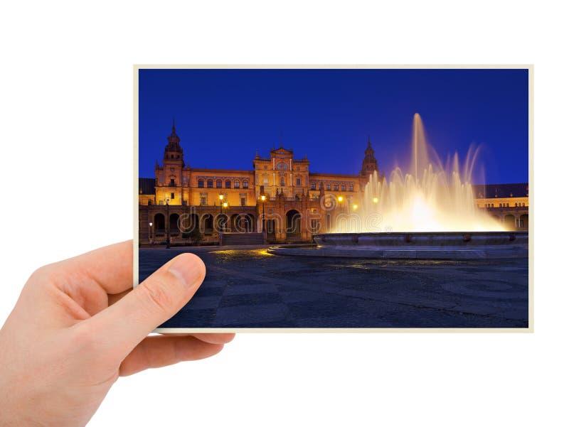 Sevilla Spain-Fotografie in der Hand stockfoto