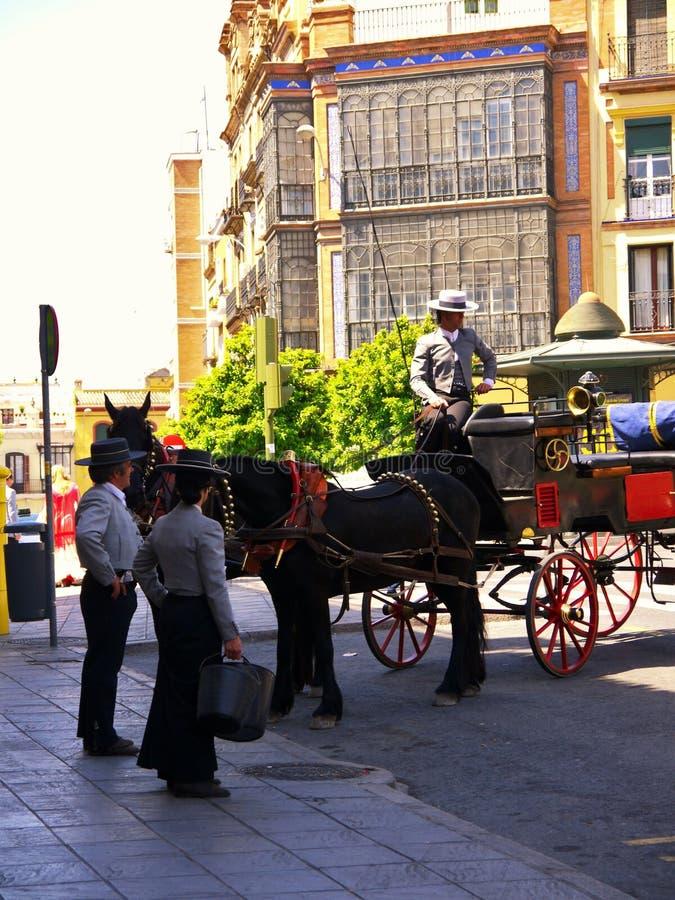 Sevilla Spanje/17 April 2013/Elegante visi van het carrigagesvervoer royalty-vrije stock fotografie