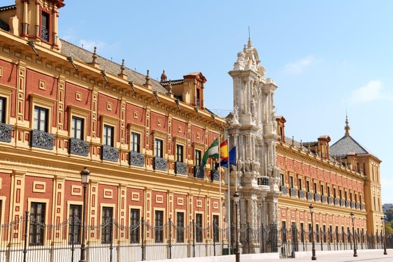 Paleis van San Telmo in Sevilla, Spanje royalty-vrije stock afbeelding