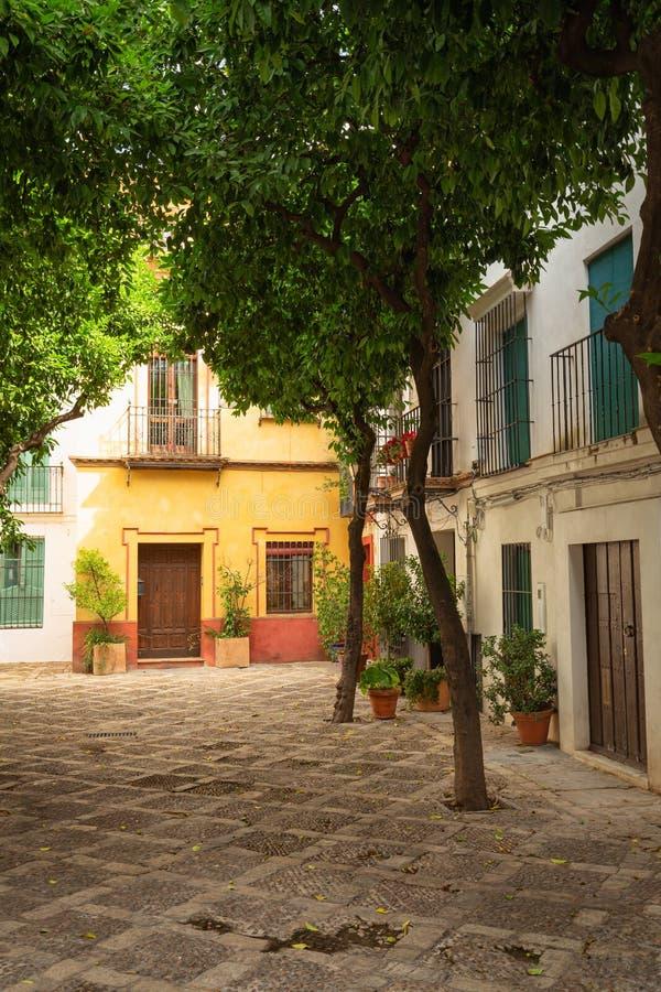 Sevilla, Spanje - het Historische district van Santa Cruz van Architectuurbarrio royalty-vrije stock foto
