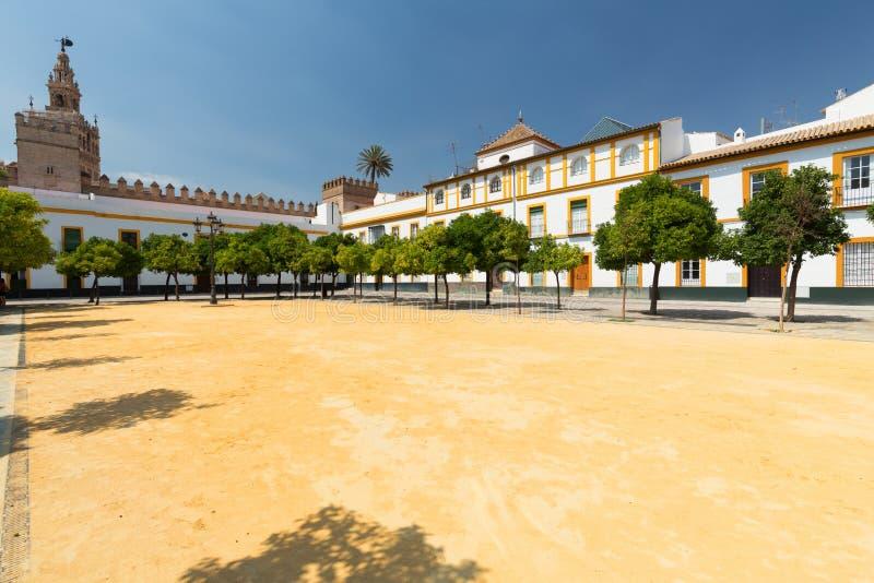 Sevilla, Spanje - het Traditionele district van Santa Cruz van Architectuurbarrio stock foto's