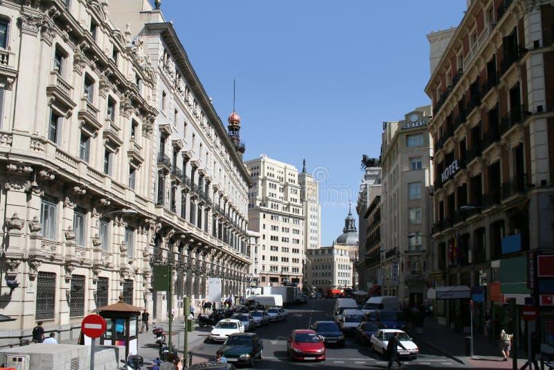 Sevilla street in the center of Madrid. stock image