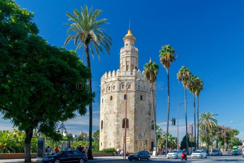 Sevilla Torretta dorata immagine stock libera da diritti