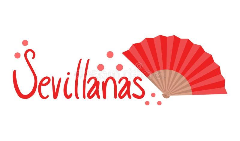 Sevillanas-Symbol lizenzfreie abbildung