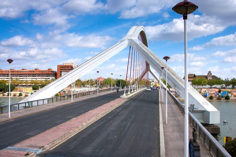 Seville, Andalusia, Spain - Barqueta bridge Puente de la Barque stock photo
