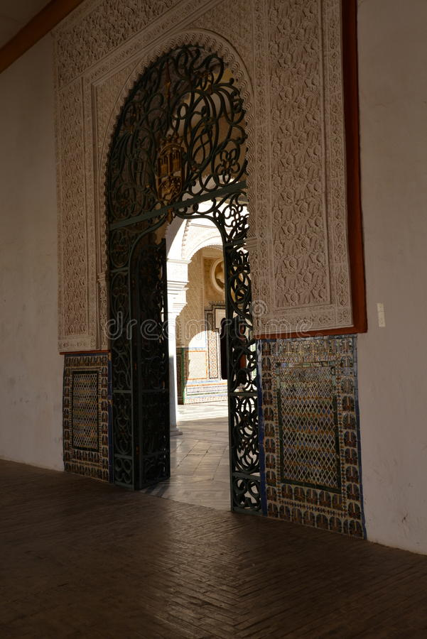 Seville, Andalusia, Spain. Casa de Pilatos arabic mudejar architecture. Seville, Andalusia, Spain. Casa de Pilatos Spanish, Andalusian palace, moresque mudejar stock image