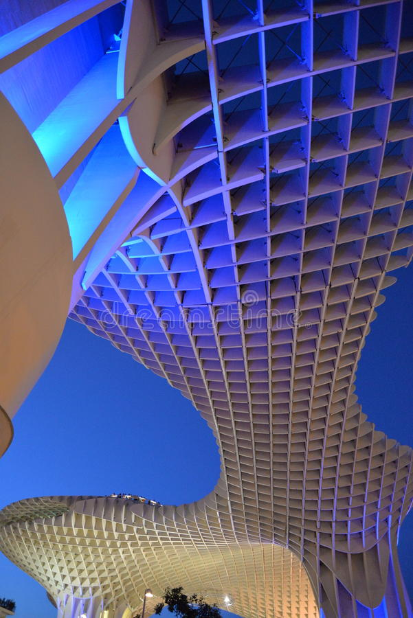 Seville, Andalusia, Spain. Metropol parasol structure royalty free stock images