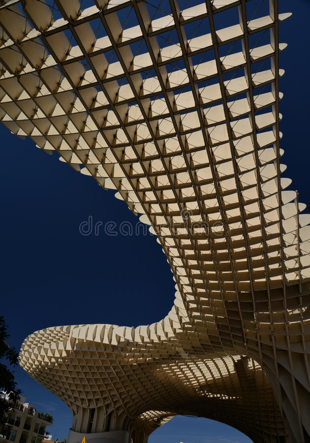 Seville, Andalusia, Spain. Metropol parasol structure royalty free stock photos