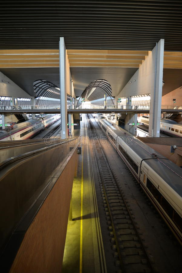 Seville, Andalusia, Spain. Santa Justa railway station royalty free stock images