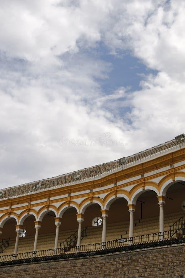Seville bullring stock photo