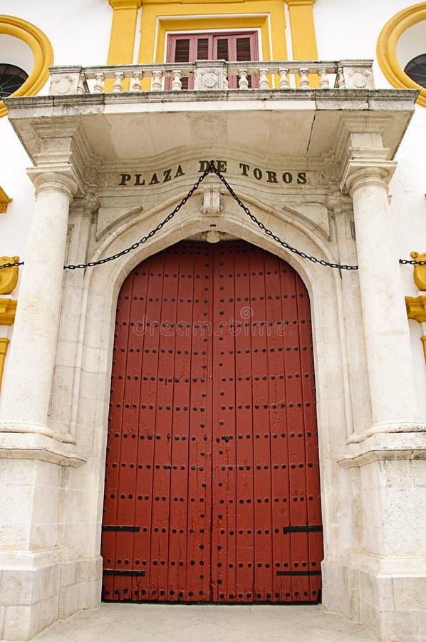 Seville bullring - Main entrance door stock image