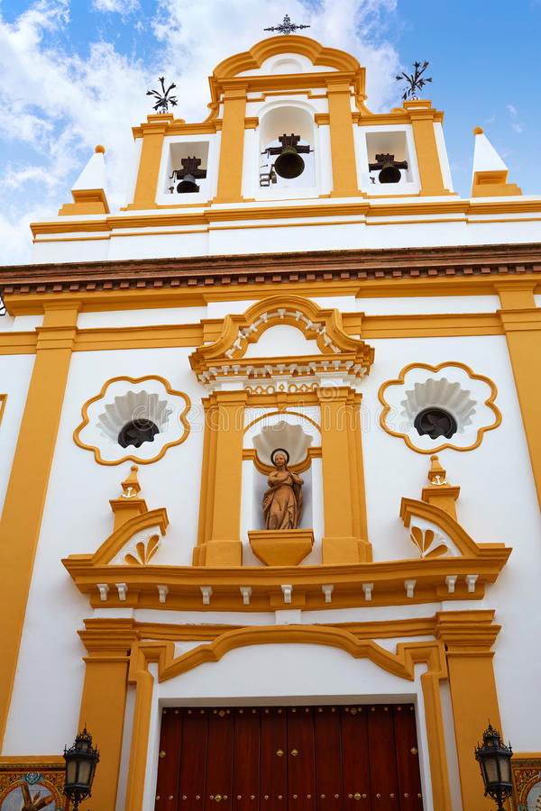 Seville Capilla de los Marineros Chapel in Triana. Seville Capilla de los Marineros Chapel in Spain at Triana barrio of Sevilla Sndalusia royalty free stock images