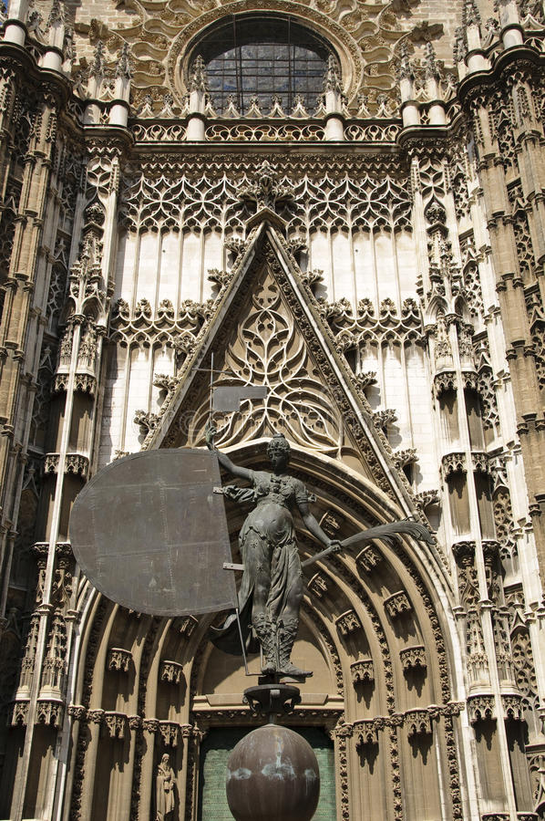 Seville cathedral - Entrance royalty free stock photos