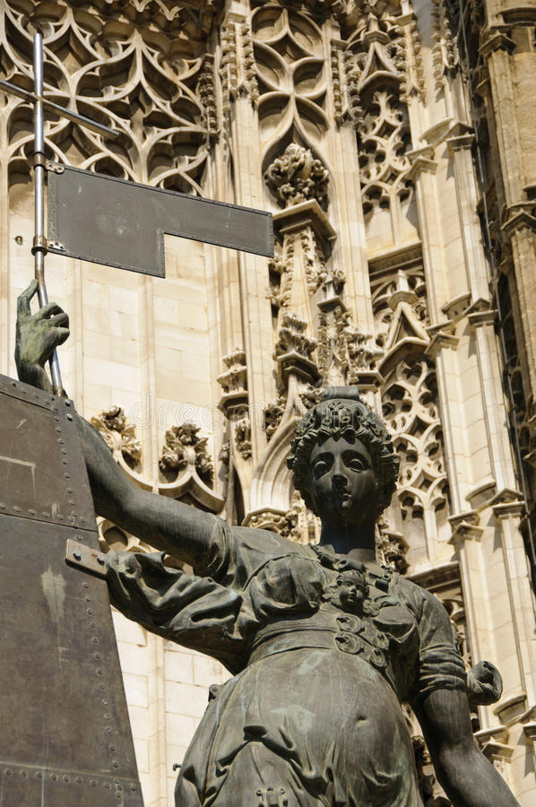 Seville cathedral - Entrance stock photography
