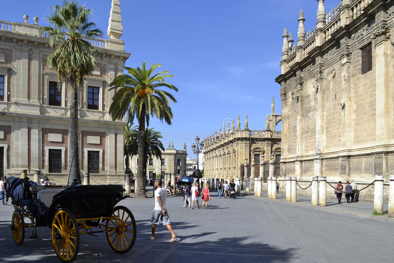 Seville Cathedral, Spain royalty free stock photos
