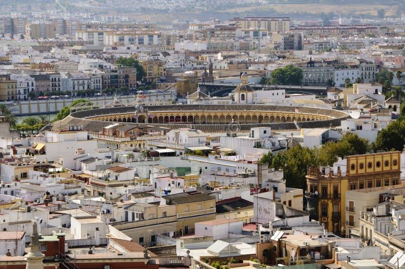 Seville cityscape royalty free stock photography
