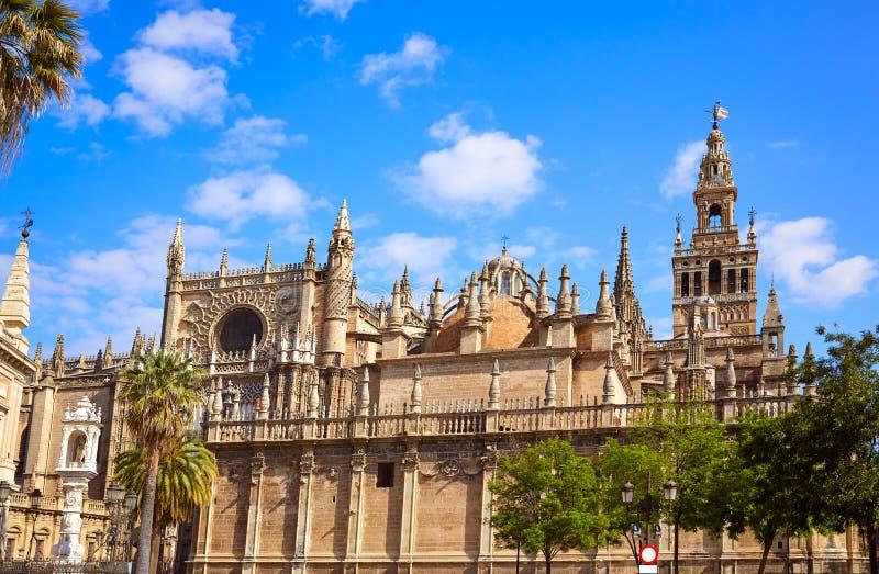 Seville Giralda katedralny wierza Sevilla Hiszpania obraz royalty free