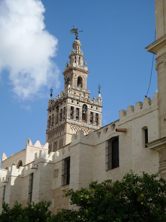 Seville, Giralda tower stock photography
