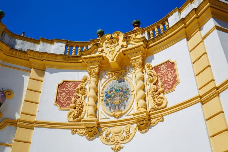 Seville Kasino de la Exposicion i sevilla Spanien royaltyfri bild