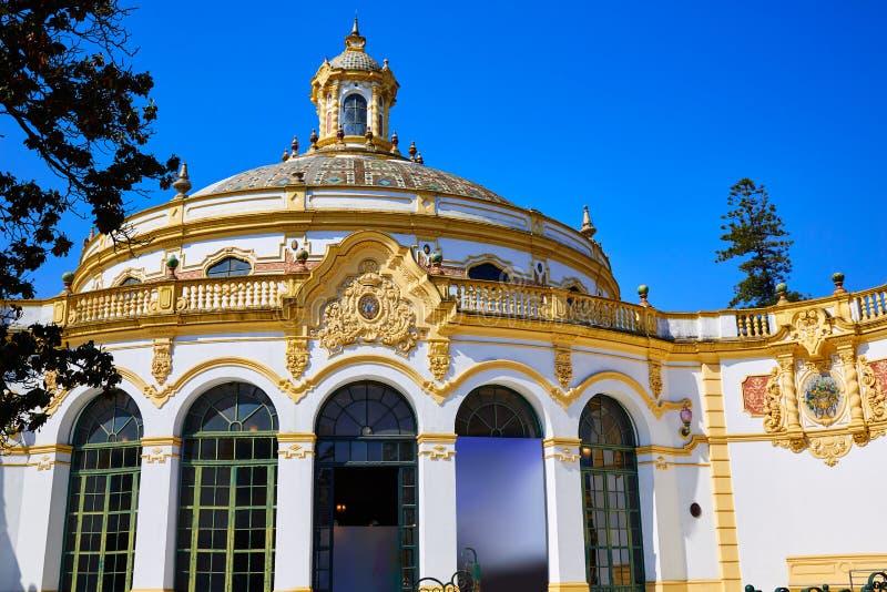 Seville Kasino de la Exposicion i sevilla Spanien royaltyfri fotografi