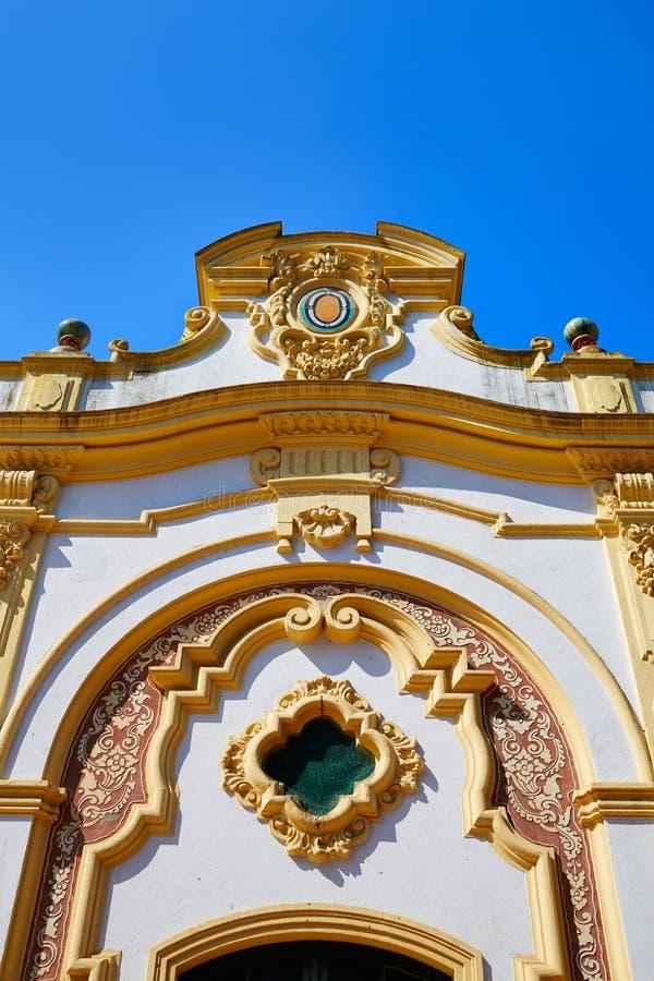 Seville Kasino de la Exposicion i sevilla Spanien fotografering för bildbyråer