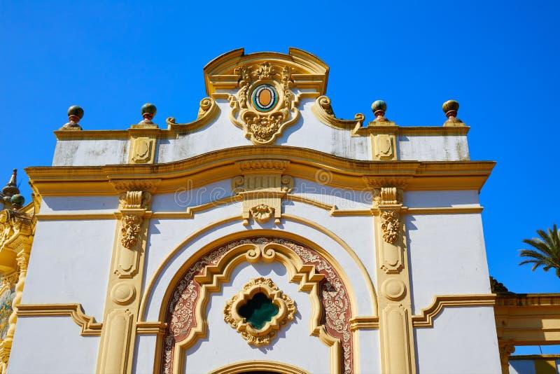 Seville Kasino de la Exposicion i sevilla Spanien royaltyfria foton
