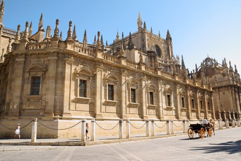Seville katedra w Hiszpania (Santa Maria De Los angeles Sede) zdjęcie royalty free