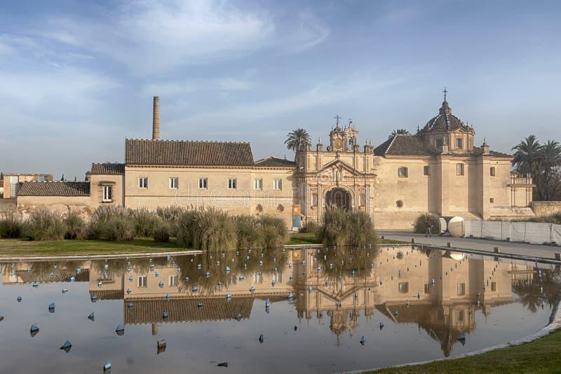 Seville, Królewski monaster Cartuja De Santa Mara De Las Cuevas obrazy royalty free