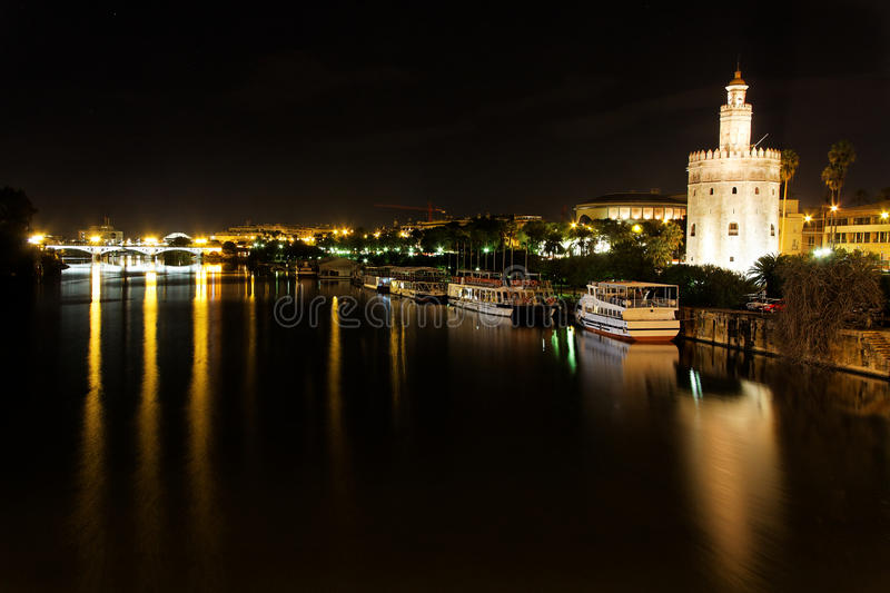Seville at Night stock images