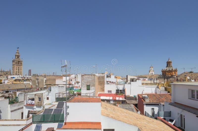 Seville od dachu zdjęcia royalty free
