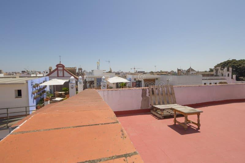 Seville od dachu obraz royalty free