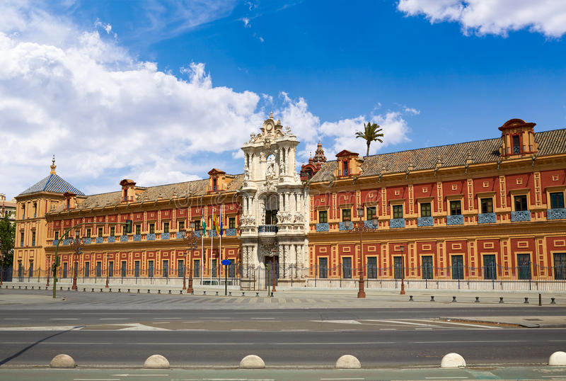 Seville Palacio San Telmo in Andalusia spain stock photo