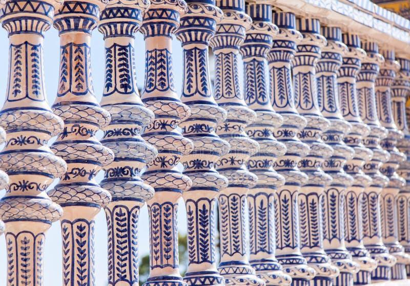 Seville, Pillars stock images