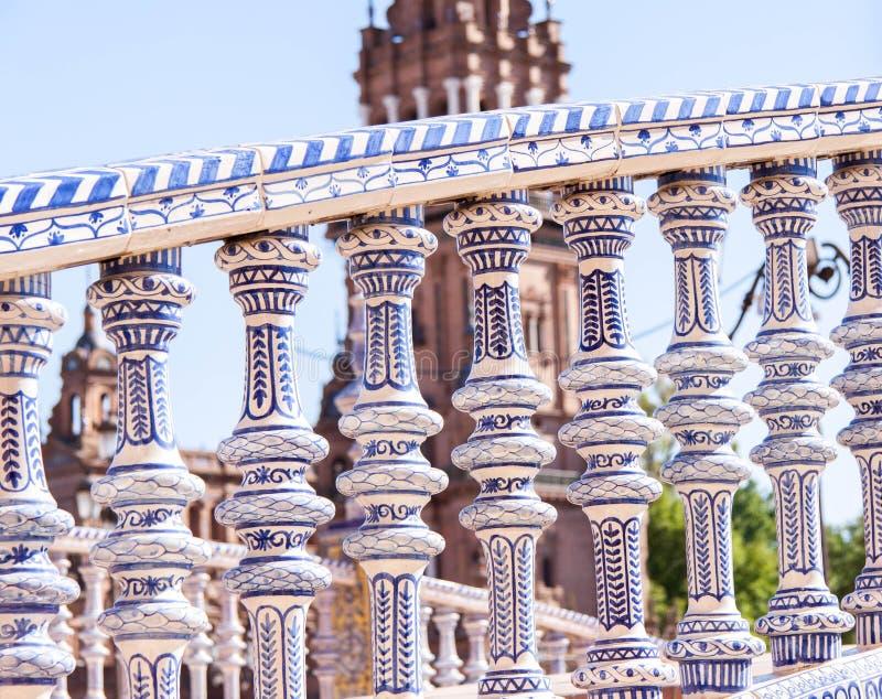Seville, Pillars royalty free stock photography