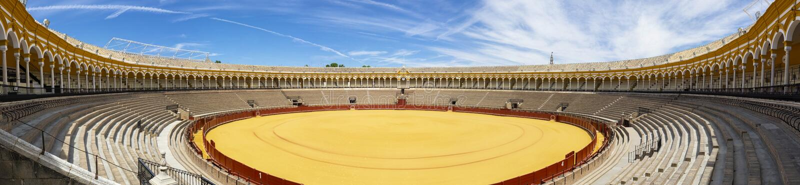 Plaza de Toros in Seville stock photography