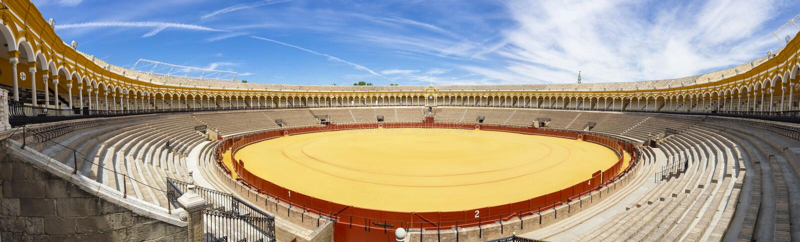 Plaza de Toros in Seville stock image