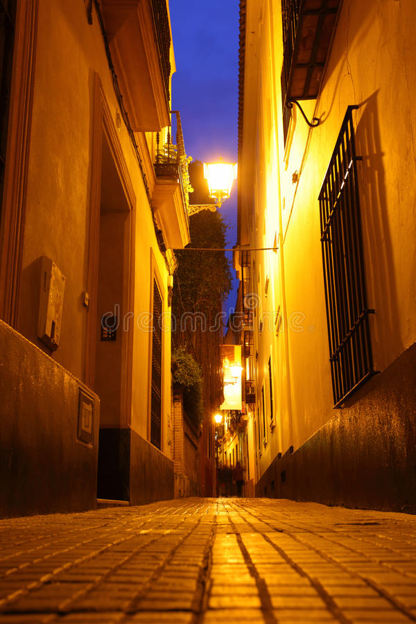 Seville przy nocą zdjęcia royalty free