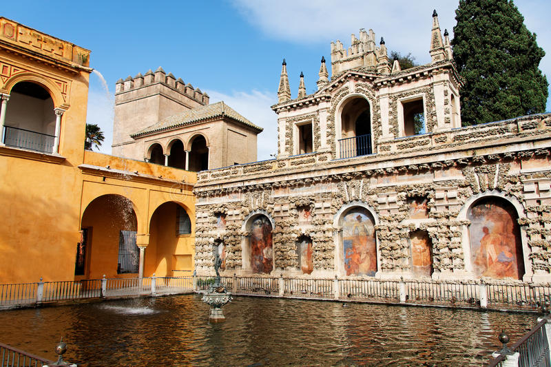 Download Seville, Real Alcazar's Main Fountain Stock Photo - Image of beautiful, arabesque: 14048142