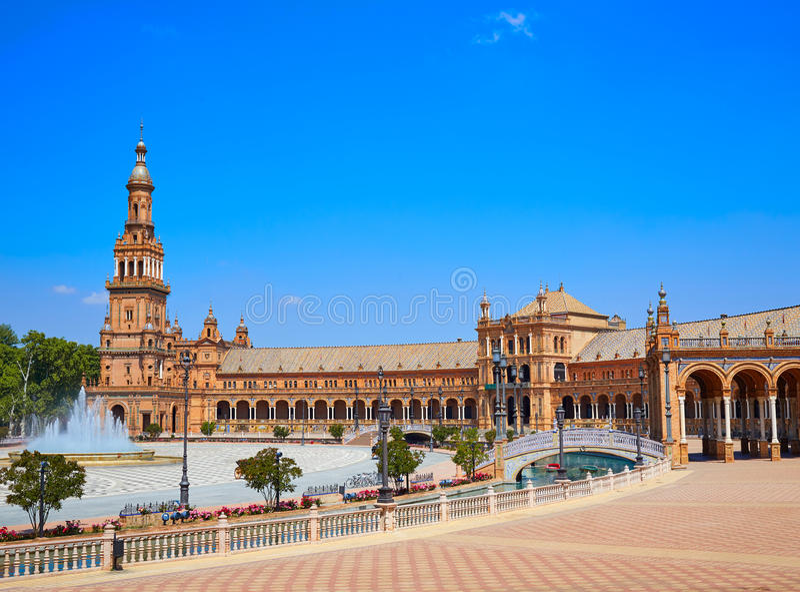 Seville Sevilla plac Espana Andalusia Hiszpania obraz royalty free