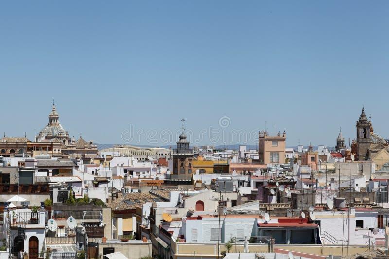 Seville skyline, Espanha fotos de stock royalty free