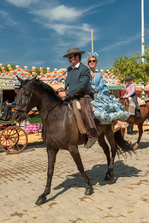 Download SEVILLE, SPAIN - April, 25: Horse Riders At The Seville's April Editorial Stock Photo - Image: 33431988