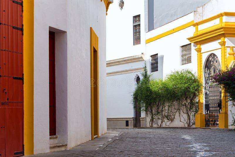 Seville, Spain - Historical Architecture barrio Santa Cruz district. Seville, Spain - Architecture barrio Santa Cruz district stock photos