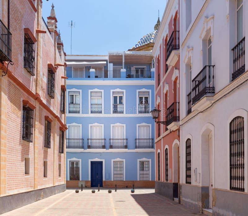 Sevilla, Spain - Architecture barrio Santa Cruz district. Seville, Spain - Architecture barrio Santa Cruz district stock photos
