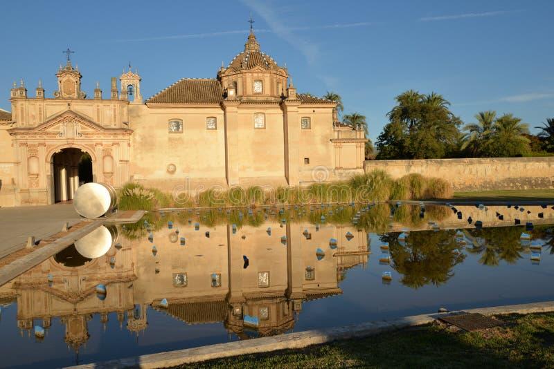 Seville, Spain. Monastirio la Cartuja modern art museum royalty free stock image