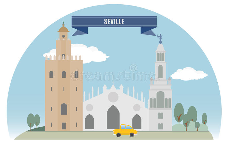 Download Seville stock vector. Image of building, monument, green - 34264769