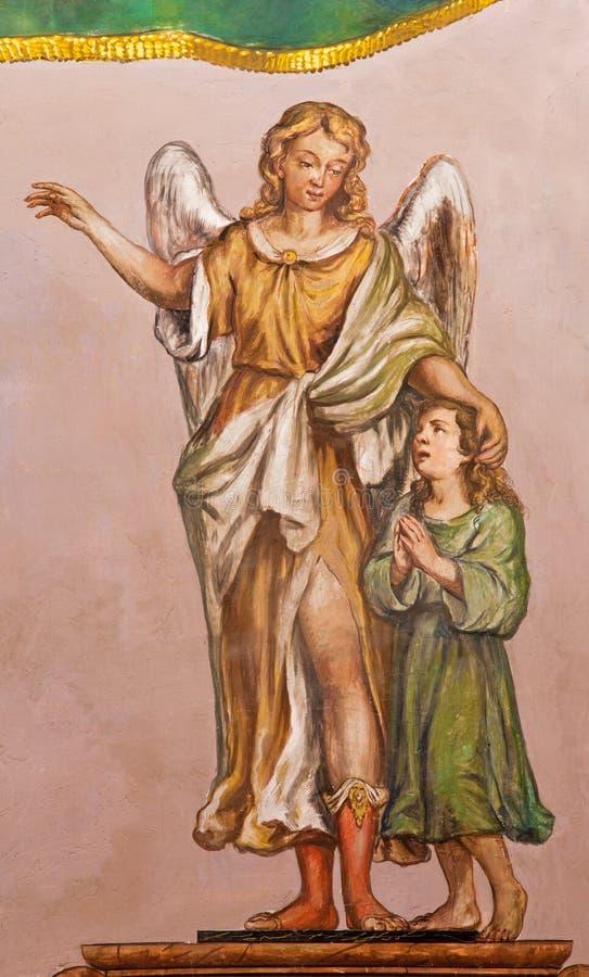 Free Seville - The Baroque Fresco Of Guardian Angel In Church Hospital De Los Venerables Sacerdotes Stock Image - 47413911